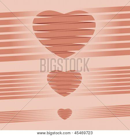 Heart origami pink Background vector illustration