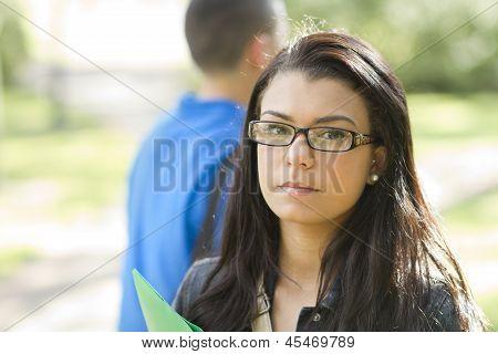 Female Student Wearing Glasses