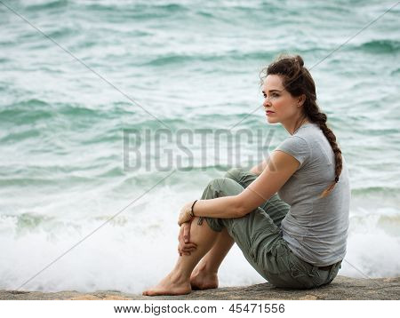 Sad Thoughtful Woman
