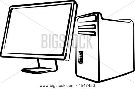 Computer, System Block, Monitor
