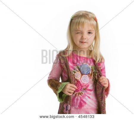 Hippy Girl Winking
