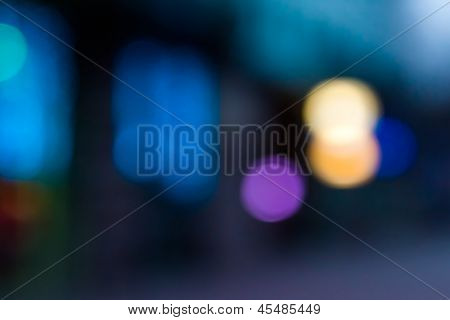 Abstract Blur Urban Street Lighting