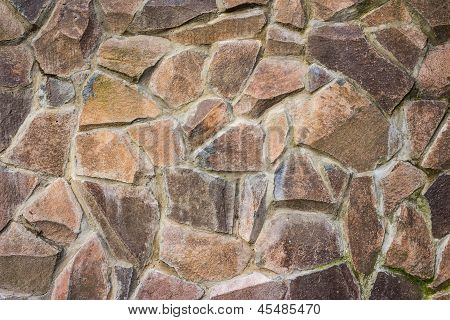 Wall Of Large Stone