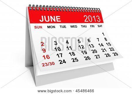 Calendar June 2013