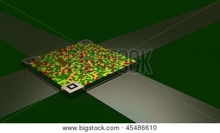 Abstract Green Circuit Board