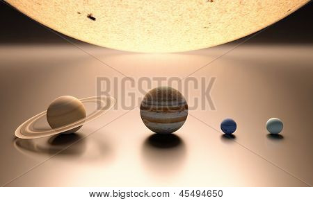 The Sun The Gas Planets Blank