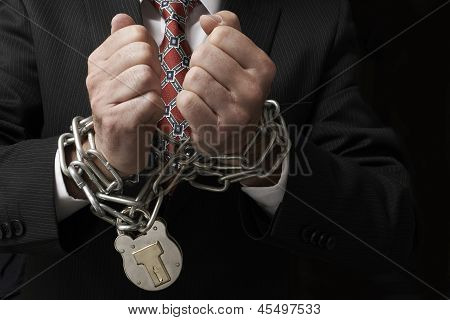 Businessman In Chains