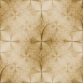 Seamless tileable background for wallpapers vintage look with circles and flowers poster