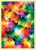 Colorful Triangles Modern Abstract Mosaic Design Pattern poster