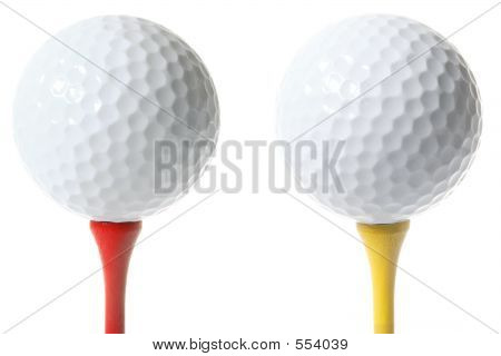 Isolated Golf Balls