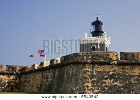 Lighthouse At Fort Morro In Old San Juan, Puerto Rico