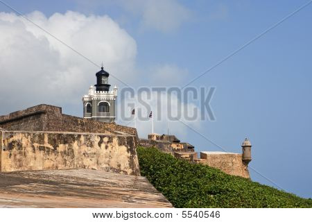 Fort Morro Wall And Lighthouse