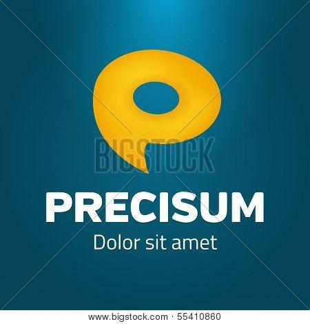 Speech Bubble As Symbol P Logo Template