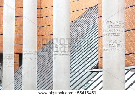 Street Of Human Rights In Nuremberg, Germany