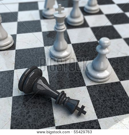 Ongoing chess game with CHECKMATE