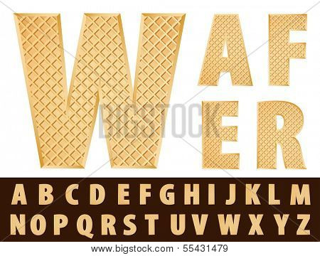 vector wafer alphabet