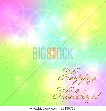 Vector multicolor pastel holiday background