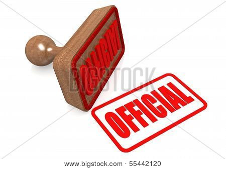 Official word on wooden stamp