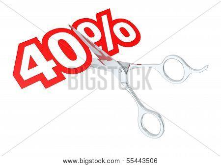 Cut 40 percent