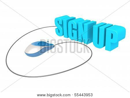 Computer mouse and sign