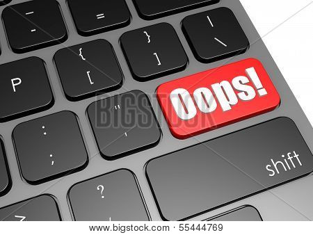 Oops with black keyboard