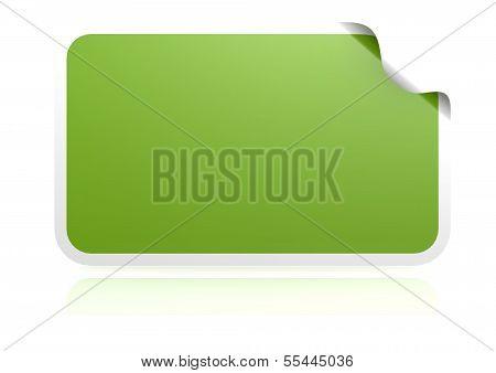 Blank green sticker