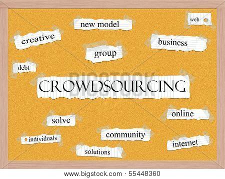 Crowdsourcing Corkboard Word Concept