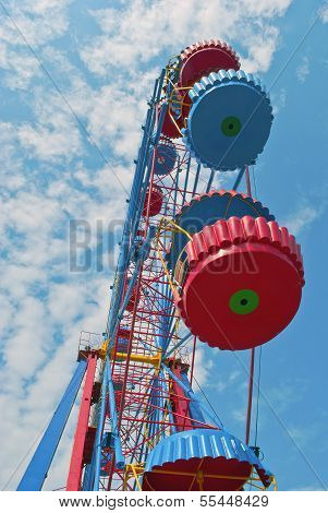 Ferris Wheel With Space For Text