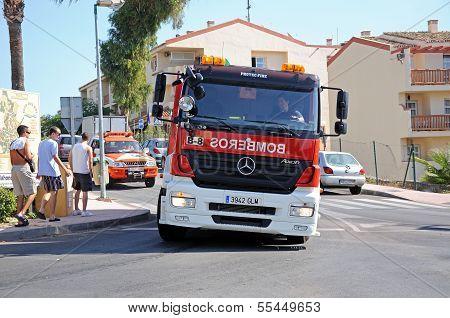 Spanish fire engine, Calahonda, Spain.