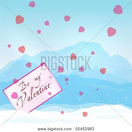 W inter mountains Valentine