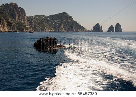 Faraglioni Rock formation on island Capri, Italy