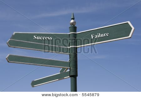 Success And Failure Themed Street Sign