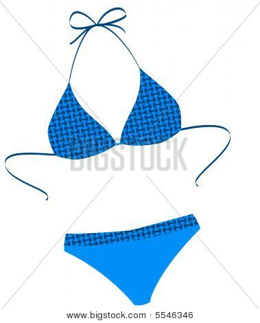The isolated bathing suit on a white background. Vector illustration