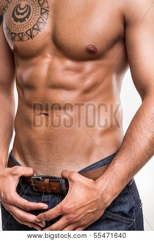 Close-up Of The Abdominal Muscles