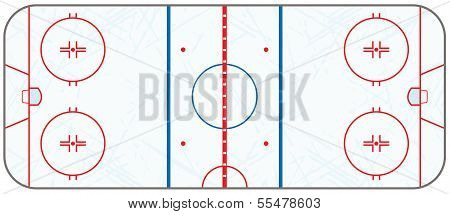 Vector Ice Hockey Rink With Skate Marks
