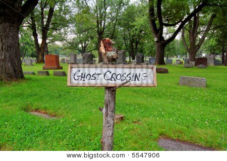 Ghost Crossing Sign