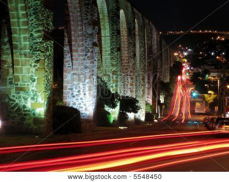 Los Arcos Aqueduct In Queretaro, Mexico.