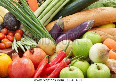 gesunde Lebensmittel Hintergrund