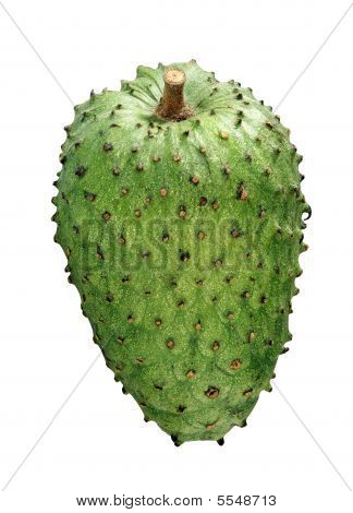 sour sop fruit on the white background poster
