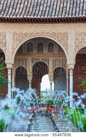 Gardens of the Generalife in Spain part of the Alhambra