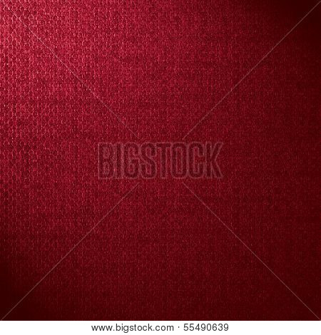 poster of red canvas background or crimson woven linen texture