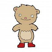 cartoon teddy bear wearing boots poster