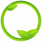 Originally created ecology business icon on a white background poster