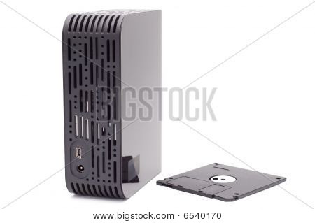 External Hard Disk And Diskette.