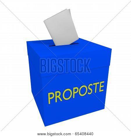 Proposals box