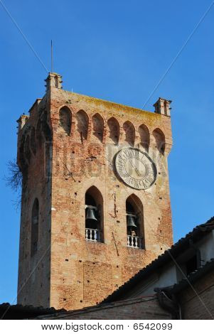 The beel tower of te San Domenico church in San Miniato Tuscany poster