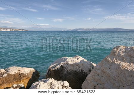Boulders and Adriatic Sea