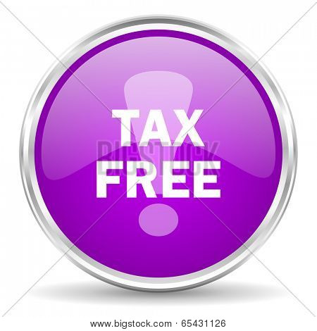 tax free pink glossy icon