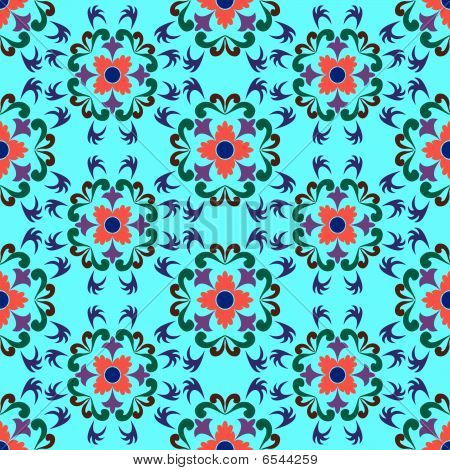 Seamless Flowers Pattern 2