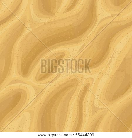 Sand seamless texture. Vector illustration